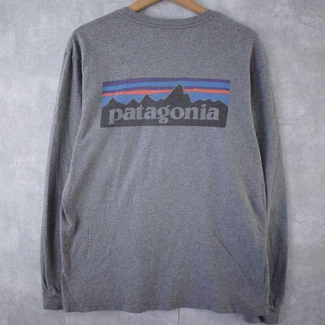 画像1: ●【SALE】 Patagonia USA製 バックロゴプリントロンT M (1)