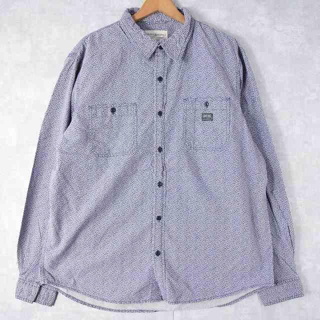 画像1: Ralph Lauren DENIM&SUPPLY 猫目ボタン 花柄 コットンシャツ XXL (1)