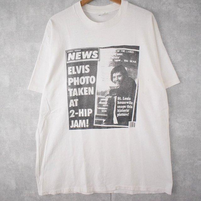 """画像1: ▼【SALE】 90's THE KING LIVES USA製 """"ELVIS """"ミュージシャンTシャツ XL (1)"""
