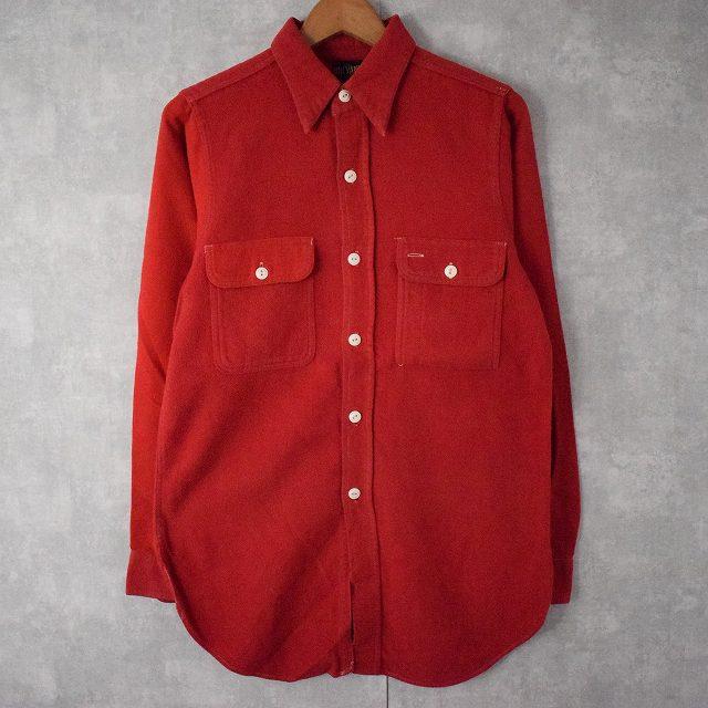 画像1: 40's BIG YANK マチ付き フラシポケットライトネルシャツ (1)