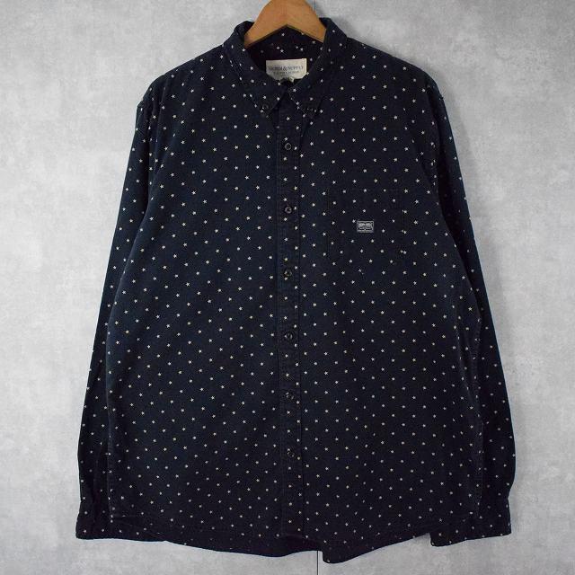 画像1: DENIM&SUPPLY RALPH LAUREN 星柄ボタンダウンシャツ XL (1)