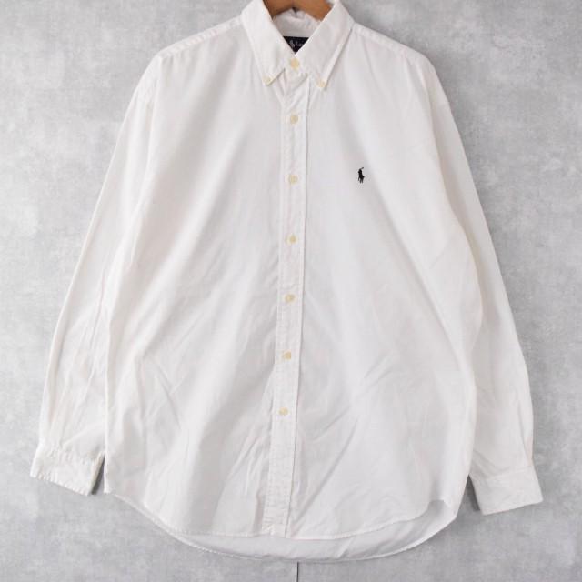 """画像1: Ralph Lauren """"BLAKE"""" コットンボタンダウンシャツ M (1)"""