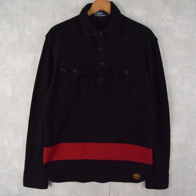 画像1: POLO Ralph Lauren チンスト付きプルオーバーシャツ M (1)