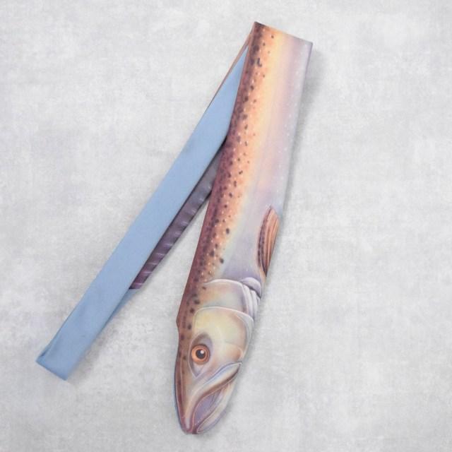 """画像1: 80's RALPH MARLIN """"KING SALMON"""" 魚デザインネクタイ (1)"""