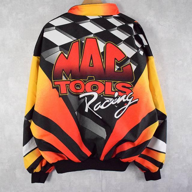 画像1: MAC TOOLS USA製 総柄 ナイロンジャケット XL (1)