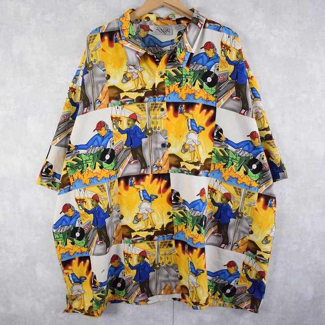画像1: ストリートイラスト柄ポリシャツ 3XL (1)