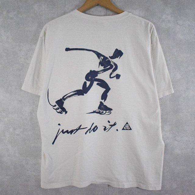 """画像1: 90's NIKE ACG USA製 """"Just do it."""" イラストプリントTシャツ M (1)"""
