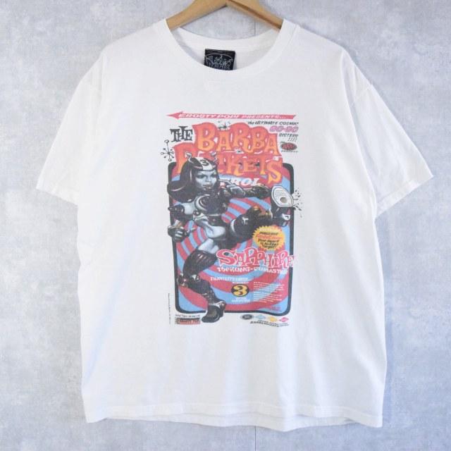 """画像1: Rockin'Jelly Bean """"THE BARBA ROCKETS PATROL"""" イラストプリントTシャツ L (1)"""