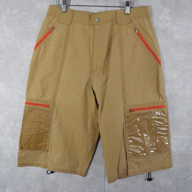 画像1: Calvin Klein ビニールポケットデザイン アウトドアショーツ W33 (1)