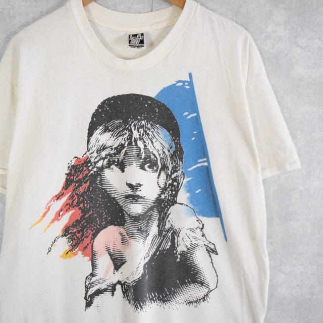 画像1: 90's Les Miserables USA製 ミュージカルプリントTシャツ ONE SIZE (1)