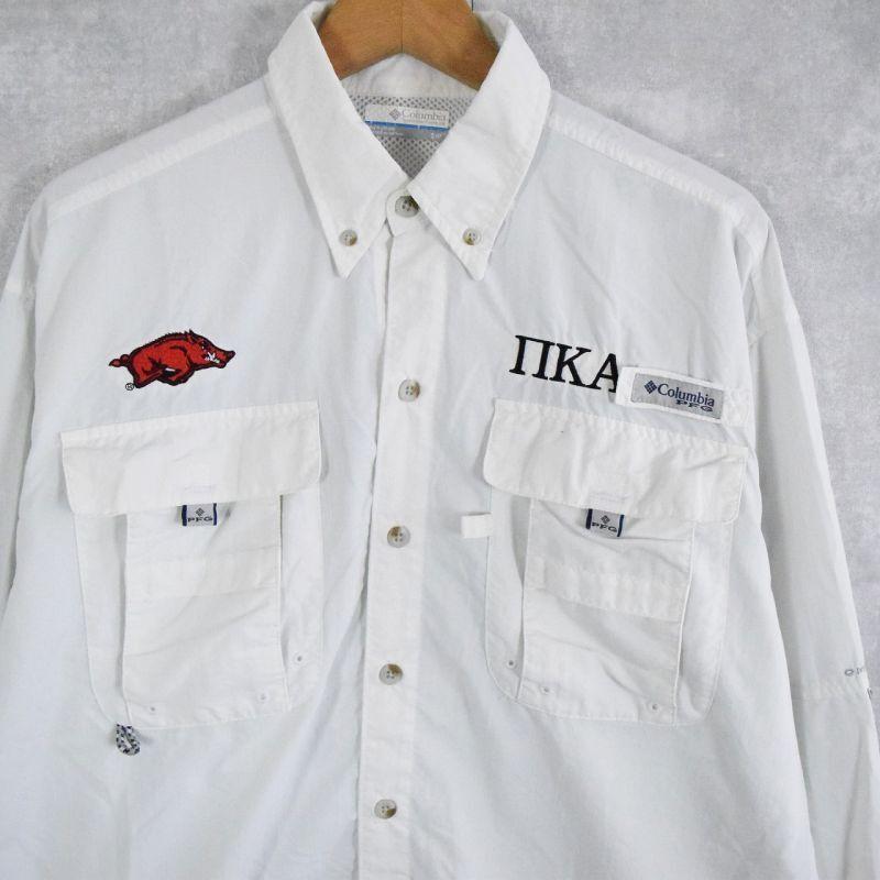 画像1: Columbia PFG 刺繍フィッシングシャツ S (1)