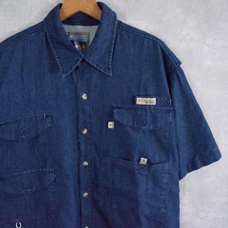 画像1: Columbia PFG フィッシングシャツ L (1)
