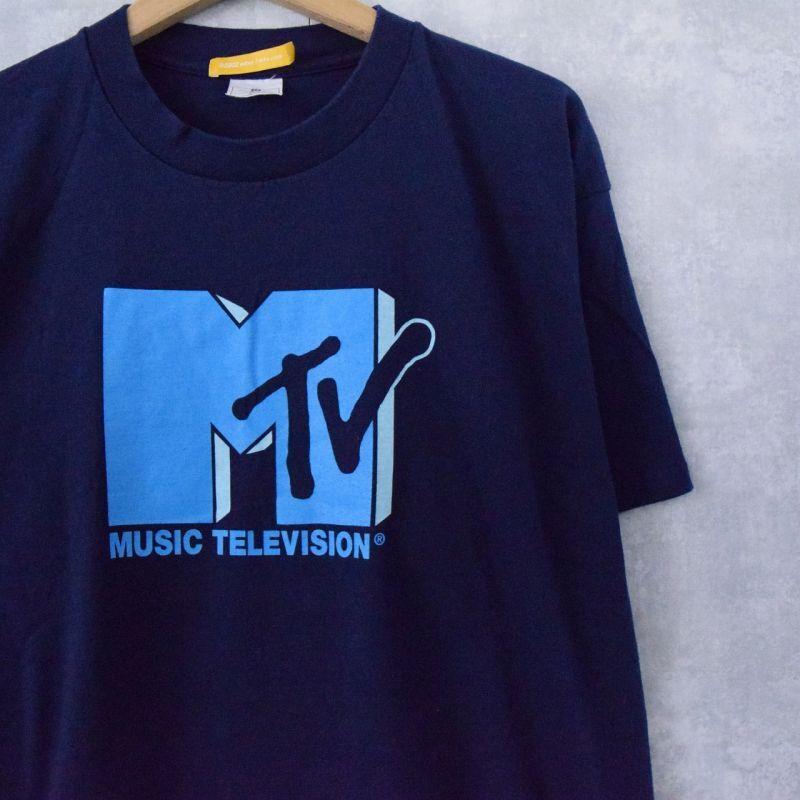 画像1: 2002 MTV ロゴプリントTシャツ XL (1)