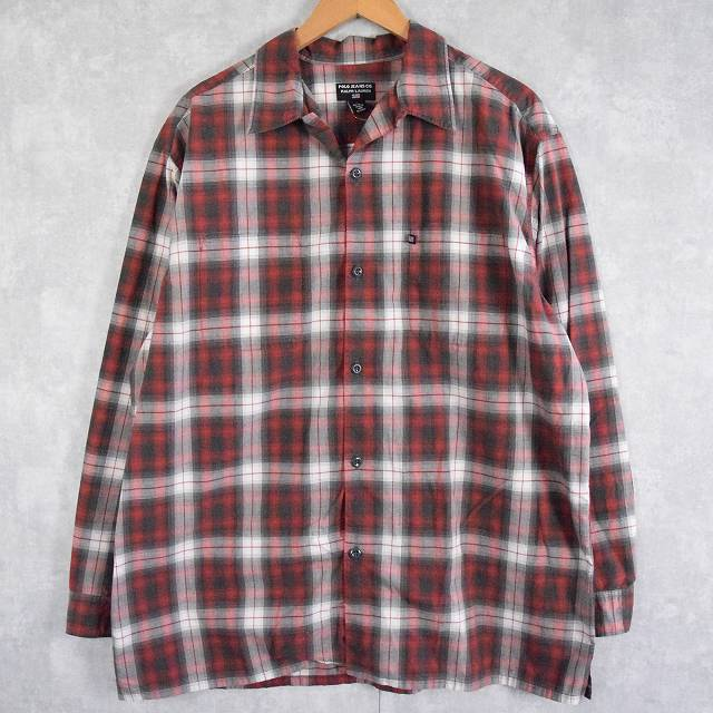 画像1: POLO JEANS CO. Ralph Lauren オンブレーチェック柄 オープンカラーシャツ L (1)