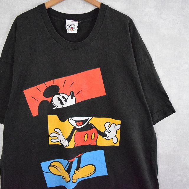 画像1: 90's DISNEY MICKEY MOUSE キャラクタープリントTシャツ (1)