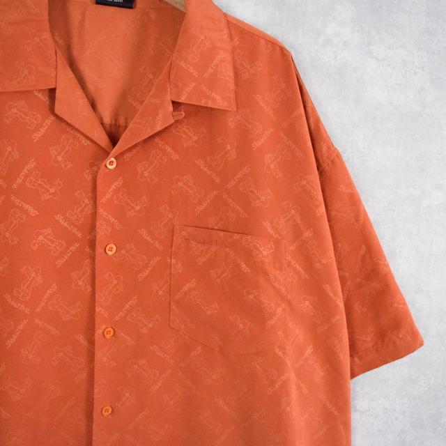 画像1: Diss 総柄オープンカラーポリシャツ XXXL (1)