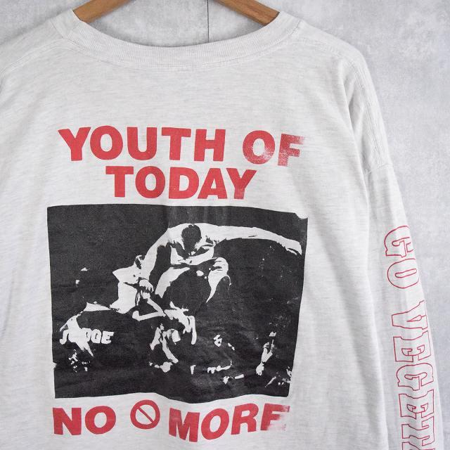 """画像1: 90's YOUTH OF TODAY USA製 """"NO MORE"""" REVELATION RECORDS ハードコアバンドロンT XL (1)"""