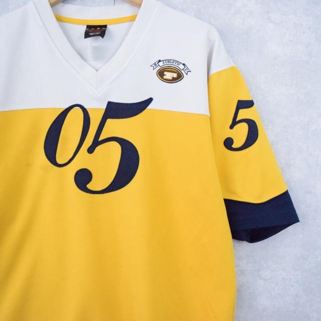 画像1: FUBU ロゴ刺繍 ゲームシャツ XL (1)