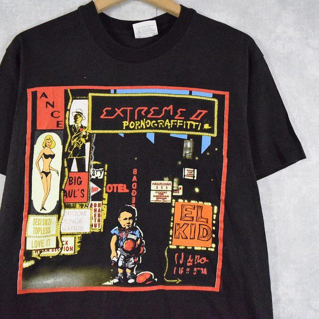 """画像1: 90's Extreme """"Pornograffitti"""" ヘヴィメタルバンドTシャツ L (1)"""