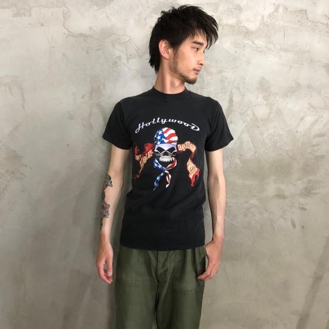 画像1: HARLEY-DAVIDSON スカル バイカーTシャツ (1)