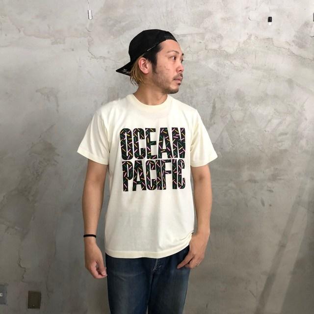 画像1: 【価格を見直しました】 90's Ocean Pacific ロゴTシャツ (1)