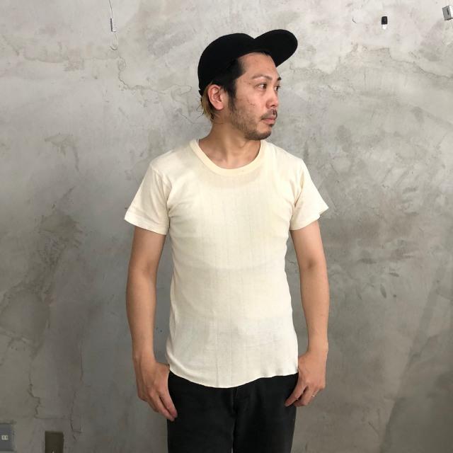 画像1: 40's〜50's Jockey Coopers USA製 針抜きTシャツ (1)