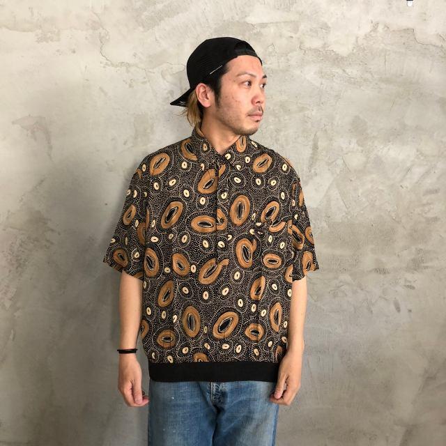 画像1: 総柄プルオーバーシャツ (1)