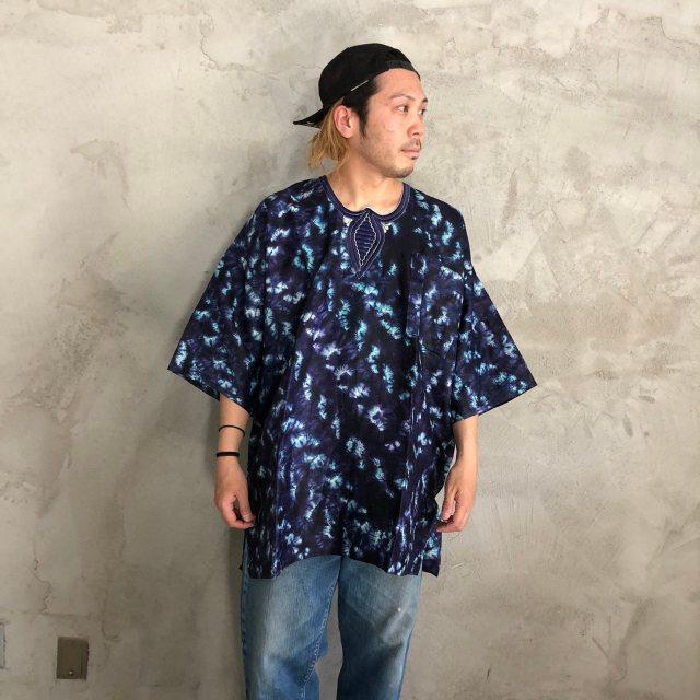 画像1: タイダイ柄 刺繍ポケットシャツ (1)
